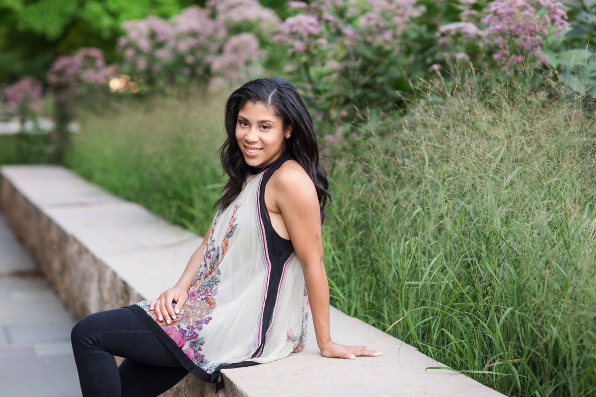 L Photographie high school senior photos City Garden 43