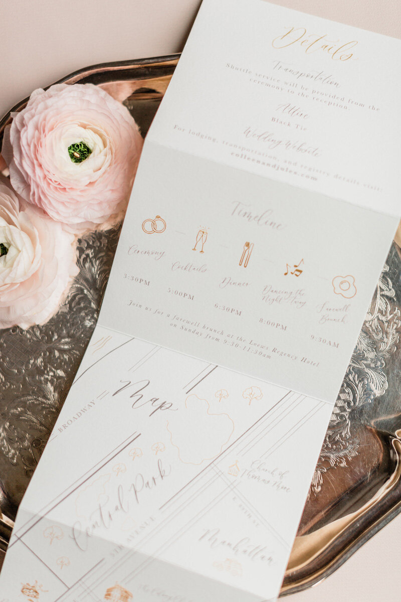 pirouettepaper.com _ Wedding Stationery, Signage and Invitations _ Pirouette Paper Company _ Colony Club Upper East Side New York City Wedding _ Lindsay Campbell Photography  (6)