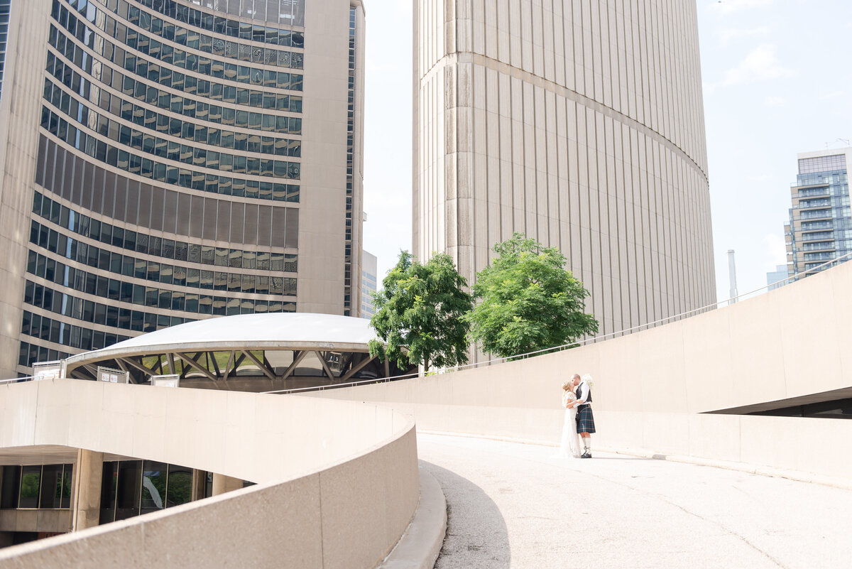 newlyweds elope in toronto at city hall by life is beautiful photography