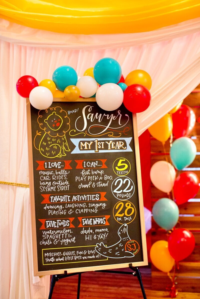 Circus Themed 1st Birthday Indianapolis Party Planner_0025