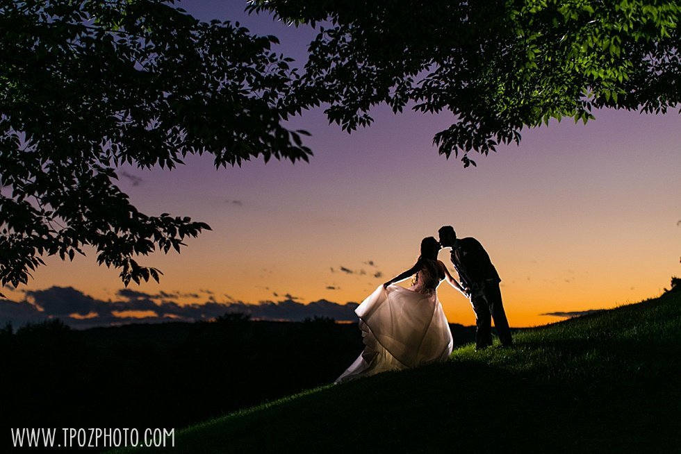 Baltimore Greek wedding sunset shot at the Grand Lodge of Maryland