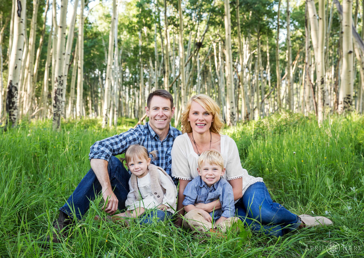 Steamboat Springs Colorado Family Photography in the Aspen Trees