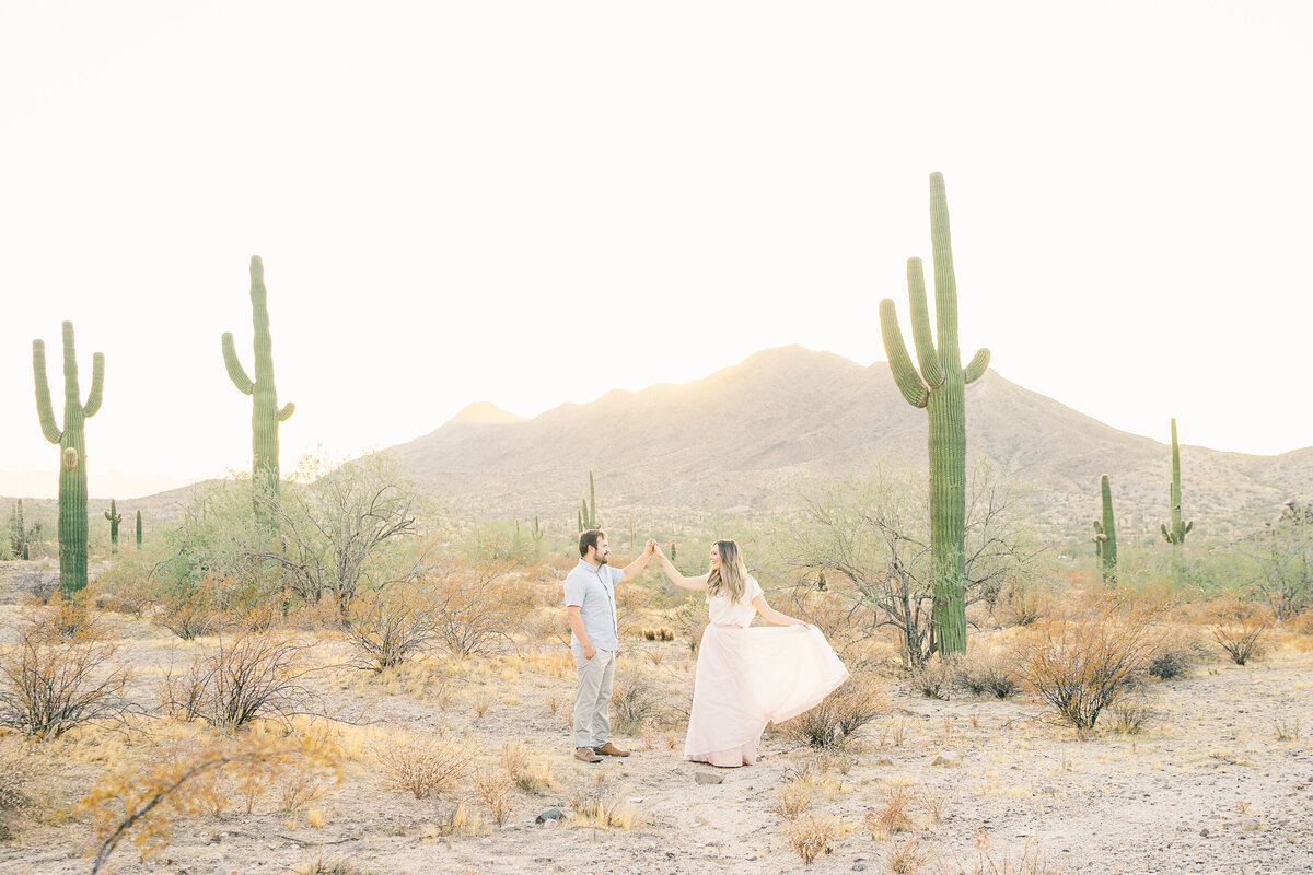 Engagement Photos At South Mountain In Phoenix AZ - Scottsdale Wedding Photographer - Atlas Rose Photography AZ01