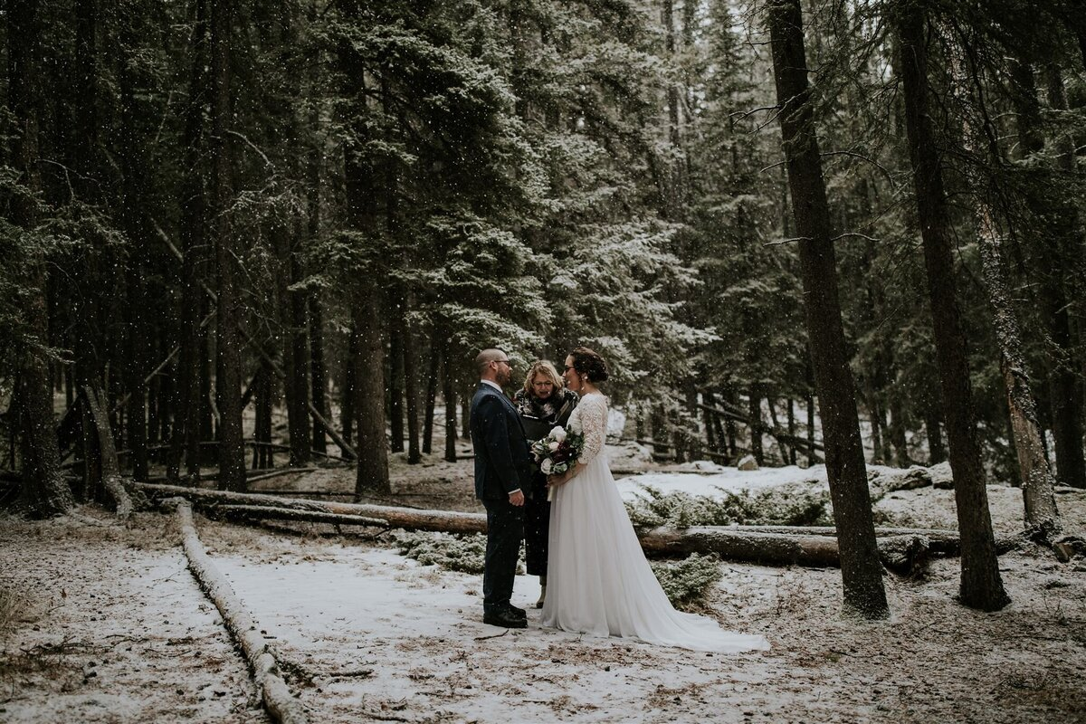 Winter Elopement in Banff