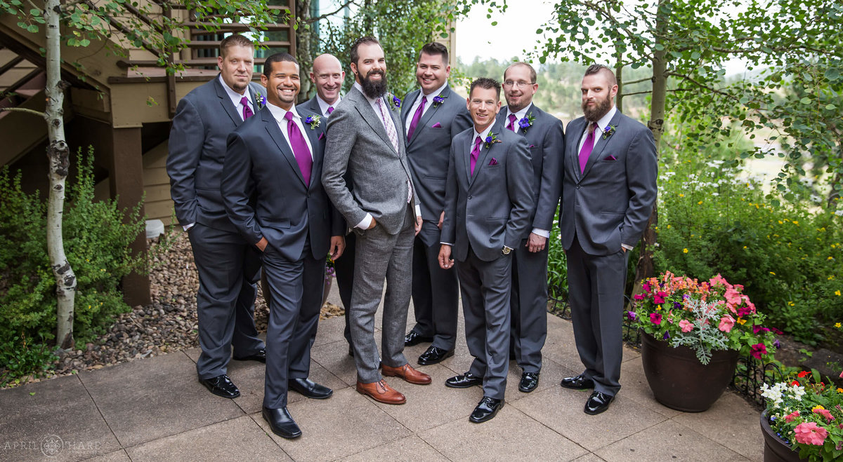 Groom Photos at Pines at Genesee in Denver Colorado