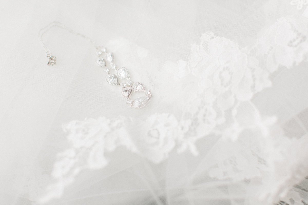 Lace Veil and Wedding Jewelry