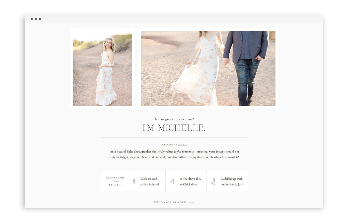 Michelle Joy Photography - Custom Logo Design, Stationery Design, Showit Web Design for Photographer - With Grace and Gold - 2