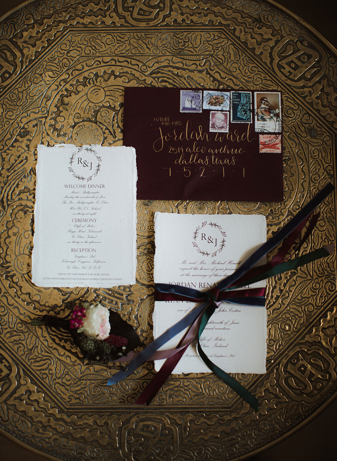 Ireland & US Wedding Planner, Invitation flat lay