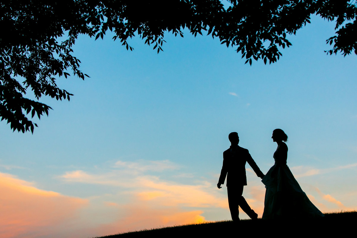 Sunset Silhouette Maryland Wedding Photos