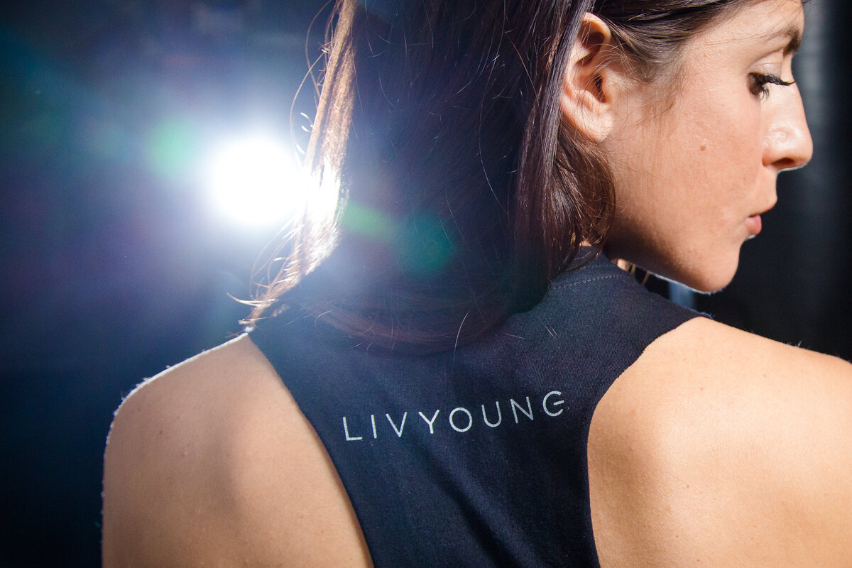 woman wearing LIV YOUNG tank