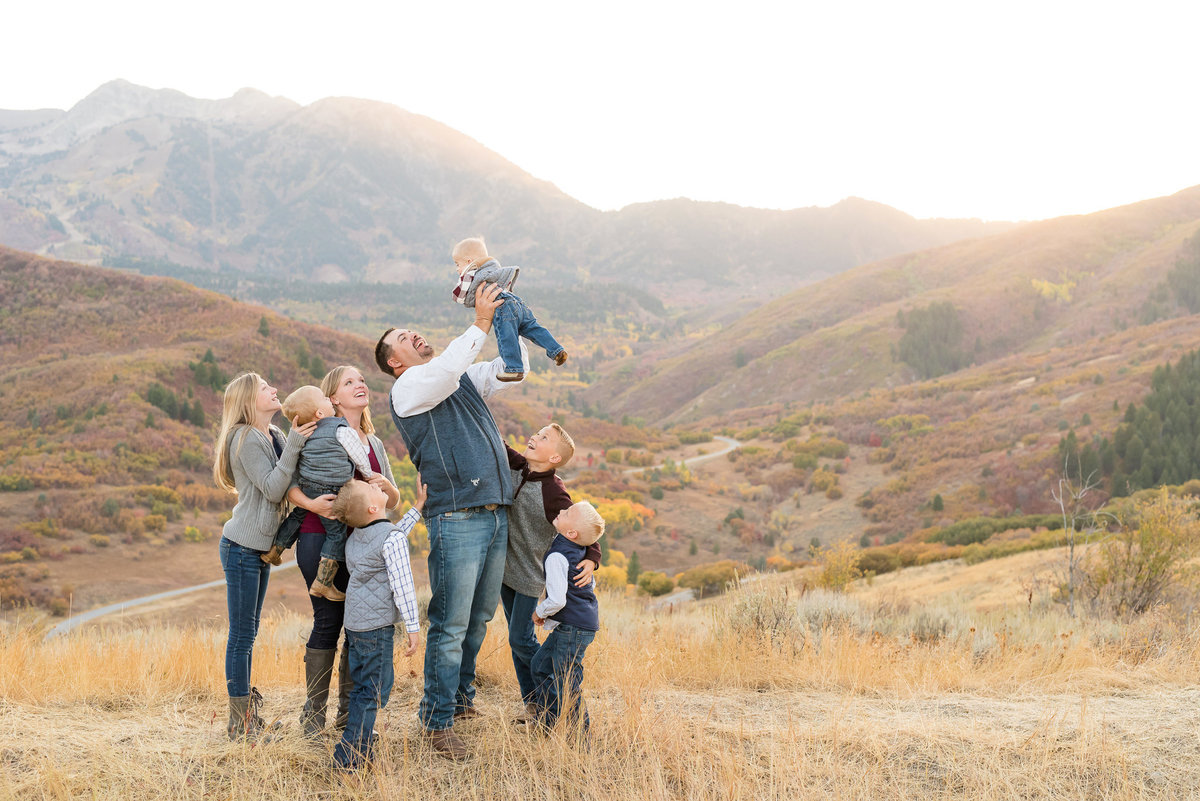 Snowbasin Fall Family Pictures - Jessie and Dallin-5