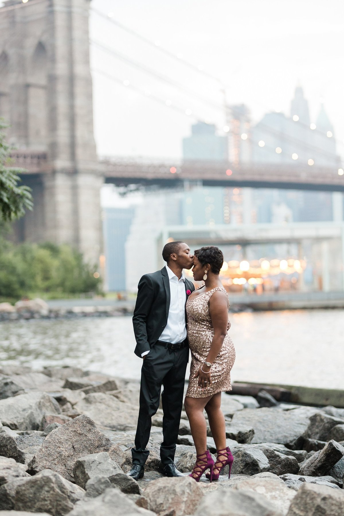 Dumbo Brooklyn Bridge engagement photos