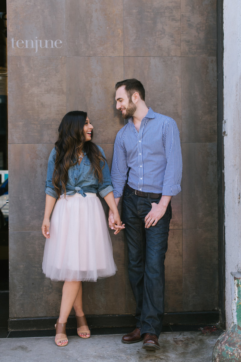nyc engagement highline new york city ny happy candid tulle skirt