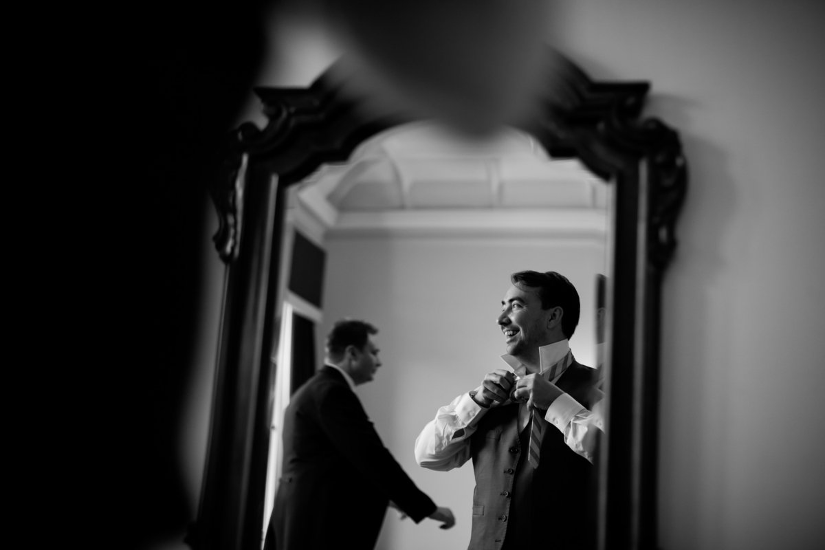 groom at st audries park wedding venue somerset