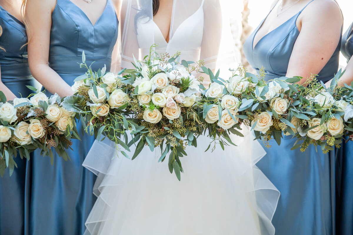 Bright Photo of Bridesmaids Bouquets