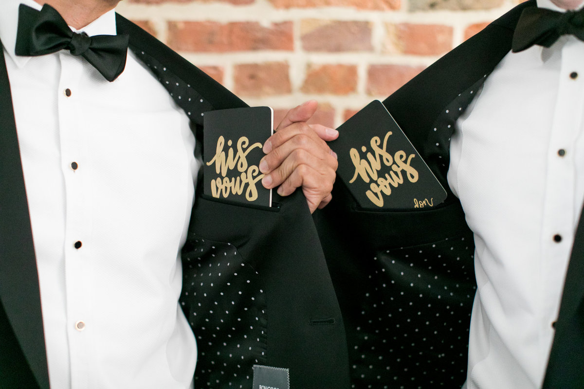 Same-sex wedding photographer baltimore vow books