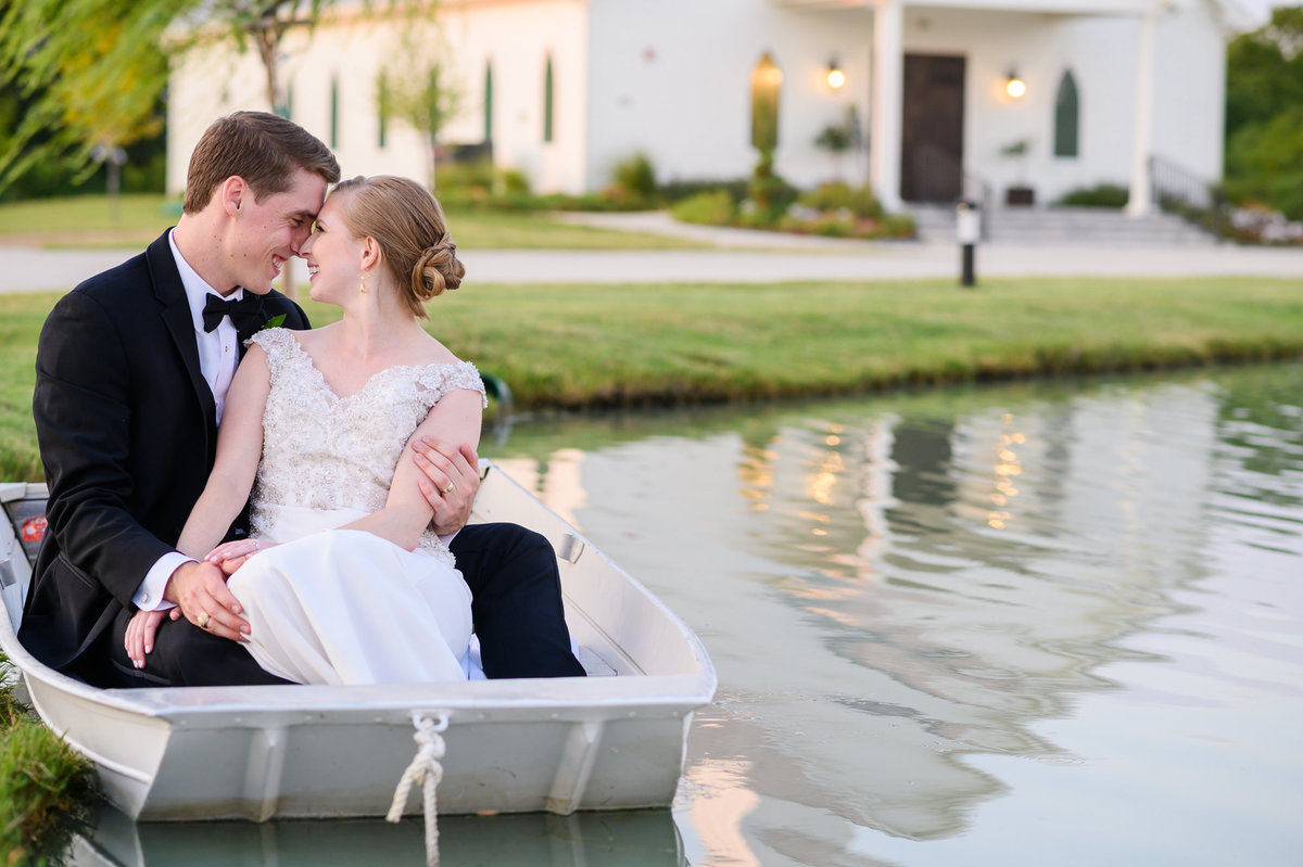 One Preston Events wedding photo in boat