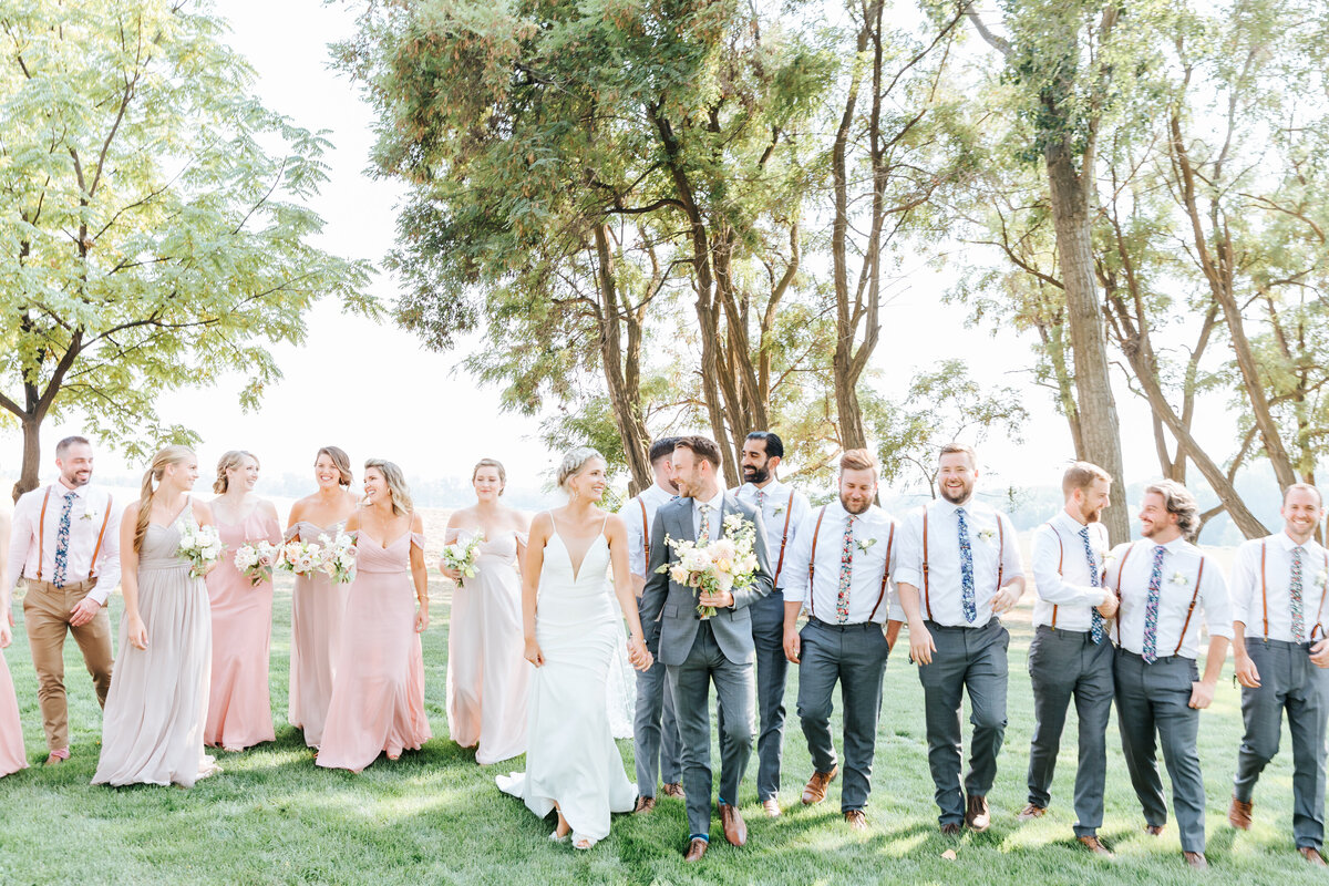 Deer Flat Ranch Dreamy Wedding Bridal Party