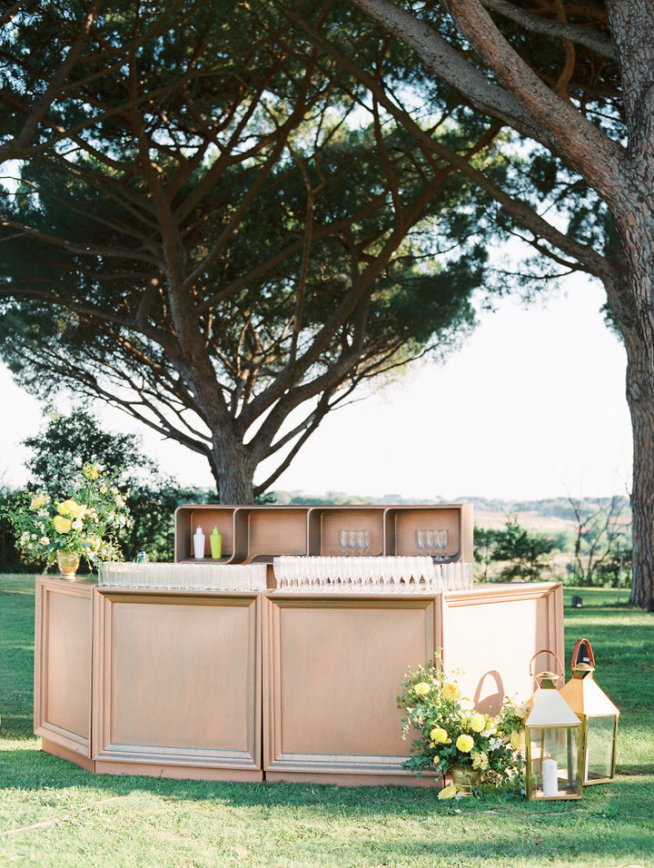 bar idea for rome destination wedding