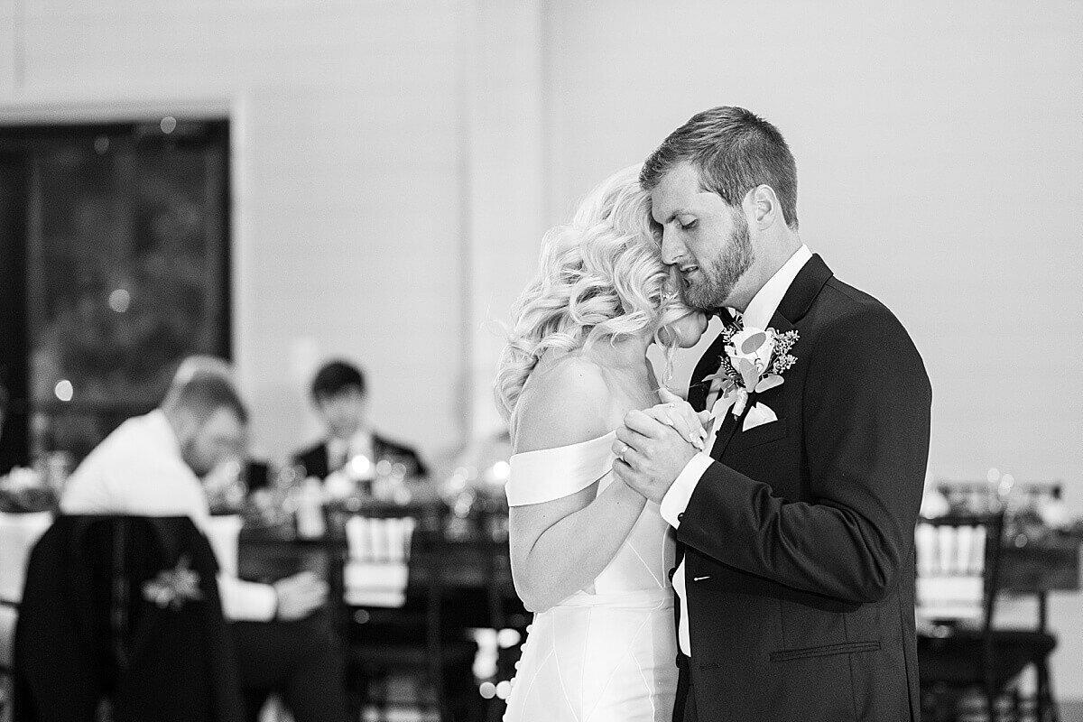 Reception at Black and White Themed Annex Wedding photographed by Alicia Yarrish Photography