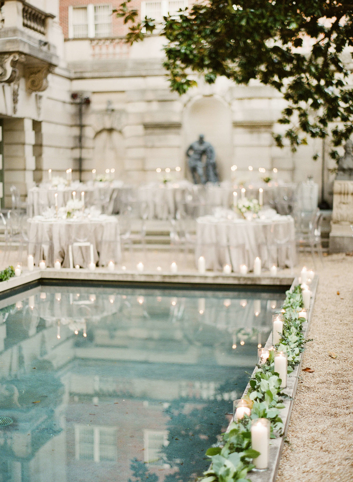 35-KTMerry-wedding-reception-outdoor-reflecting-pool