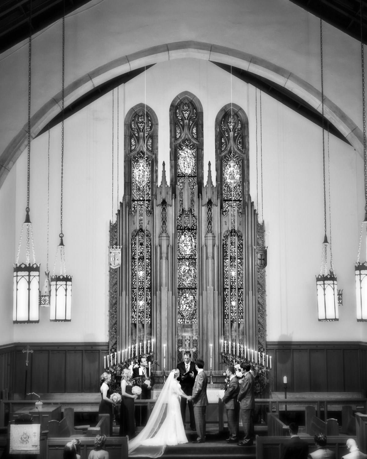 Church Wedding by Washington DC Wedding Photographer, Erin Tetterton Photography