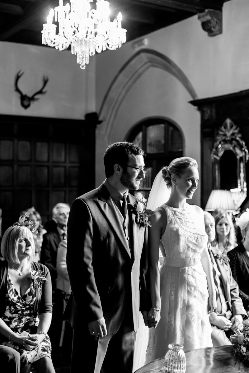Bride and Groom at their Huntsham Court Wedding Ceremony