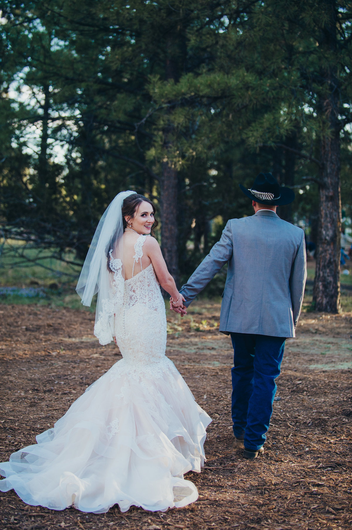 A couples wedding in Flagstaff, Arizona