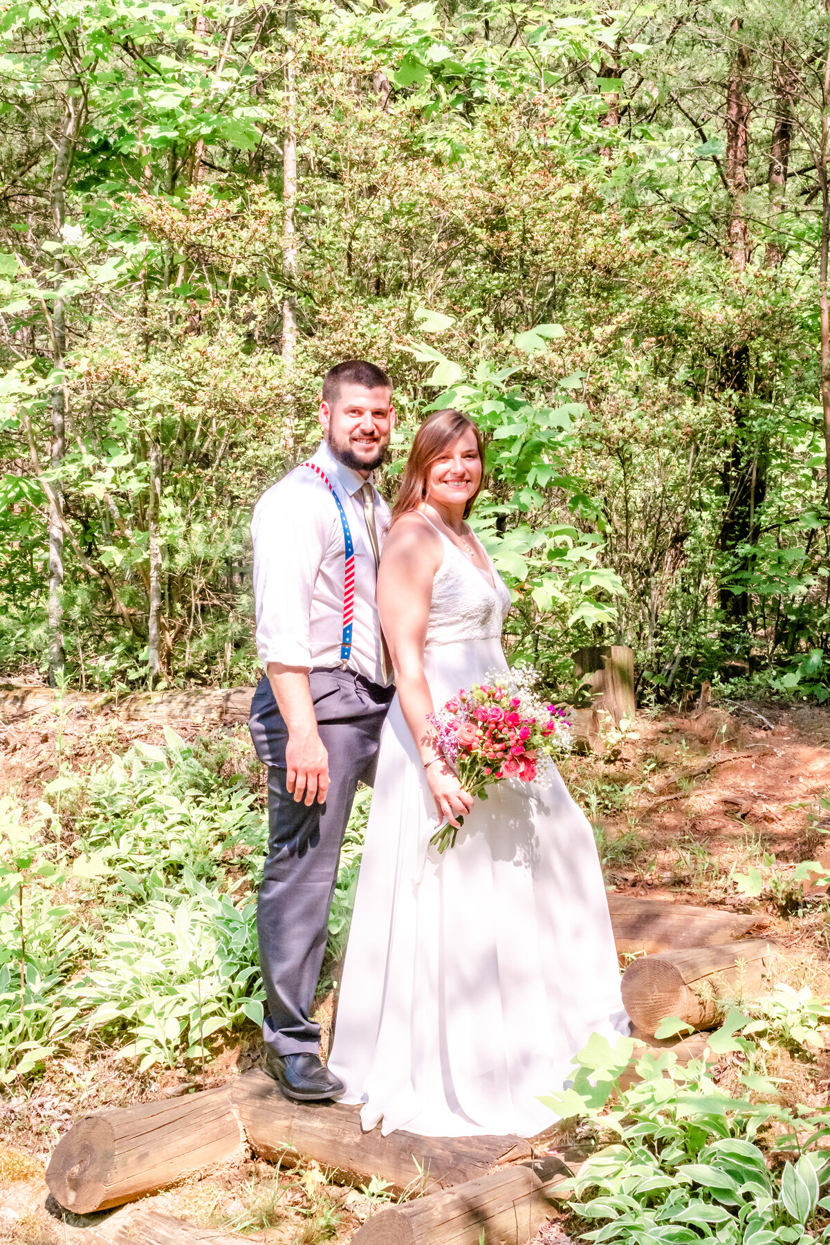 Blue Ridge Mountains Wedding Photography - Rhiannon and Chris - Bride and Groom Married - Wilmington NC Photographer Team