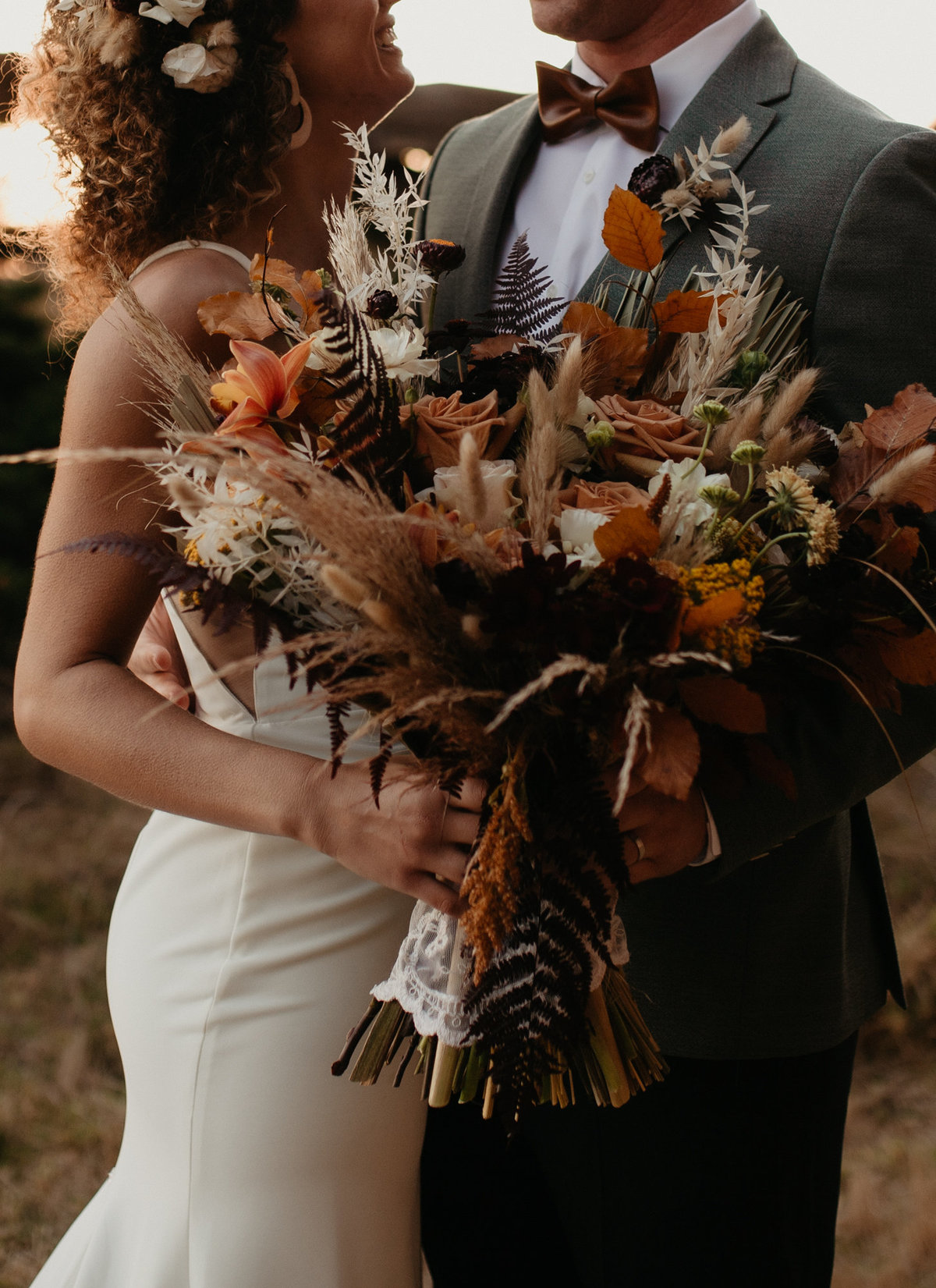 Autumn bouqet at Cambria Wedding
