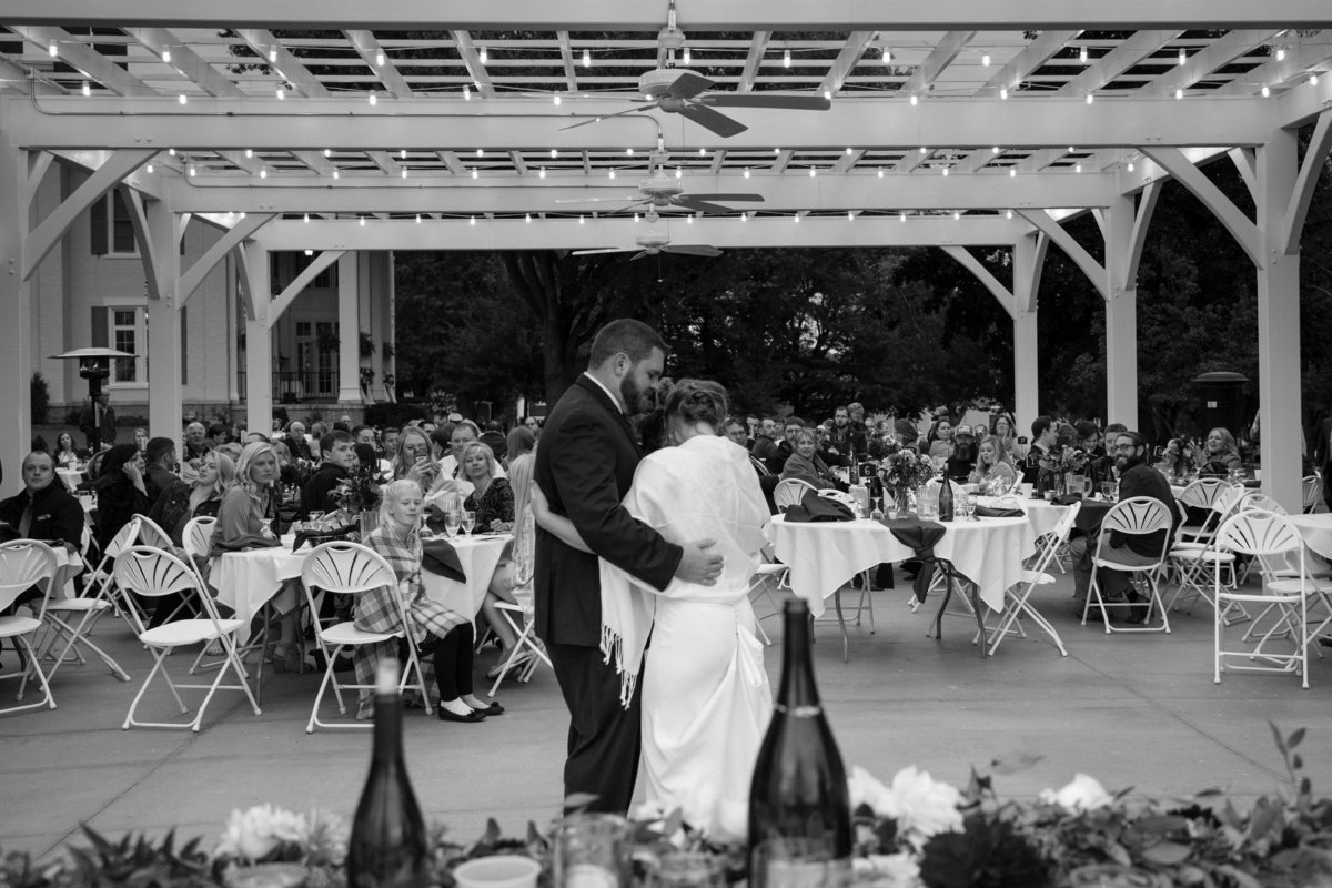 dancing under the stars outdoor reception