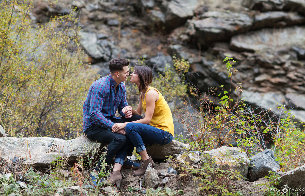 Clear Creek Golden Colorado Mountain Engagement Photography