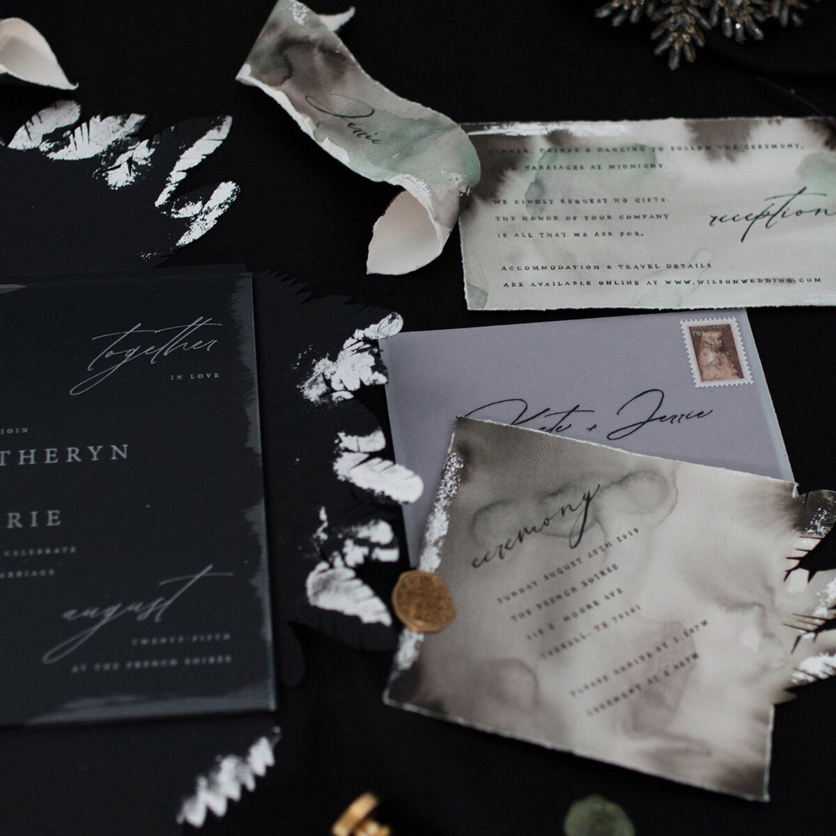 paper wedding invitations