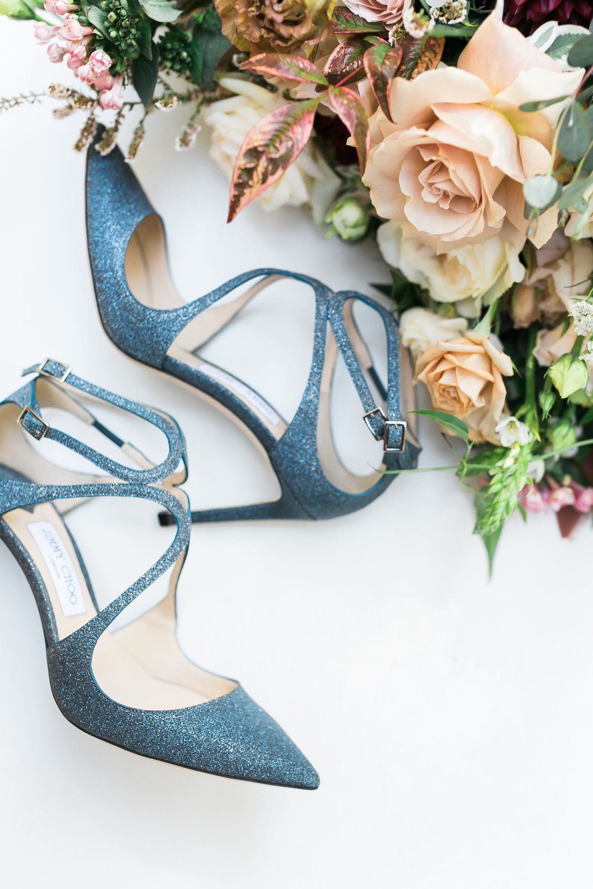 jimmy choo blue wedding shoes