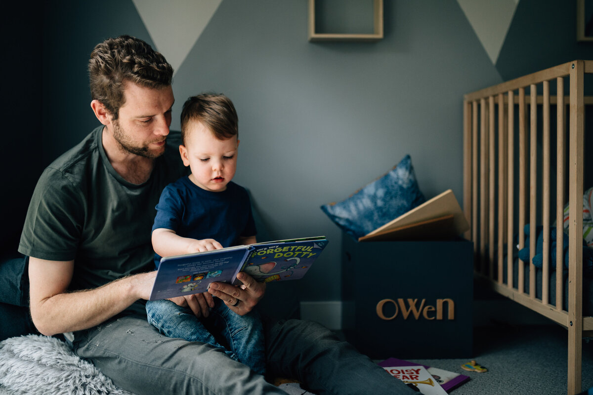 Dad reading to son natural Melbourne family photography And So I Don't Forget Photography