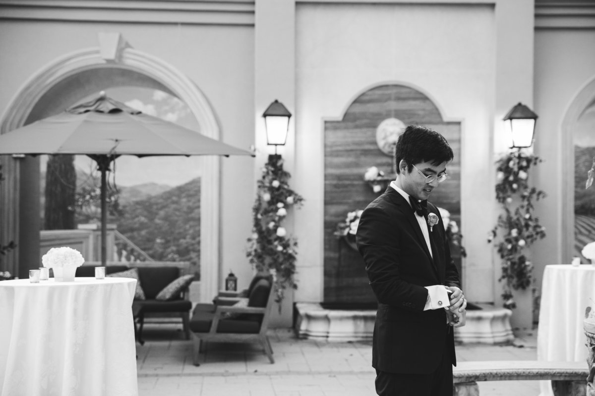 hotel granduca wedding photographer asian wedding photographer groom waits for bride 320 S Capital of Texas Hwy, West Lake Hills, TX 78746