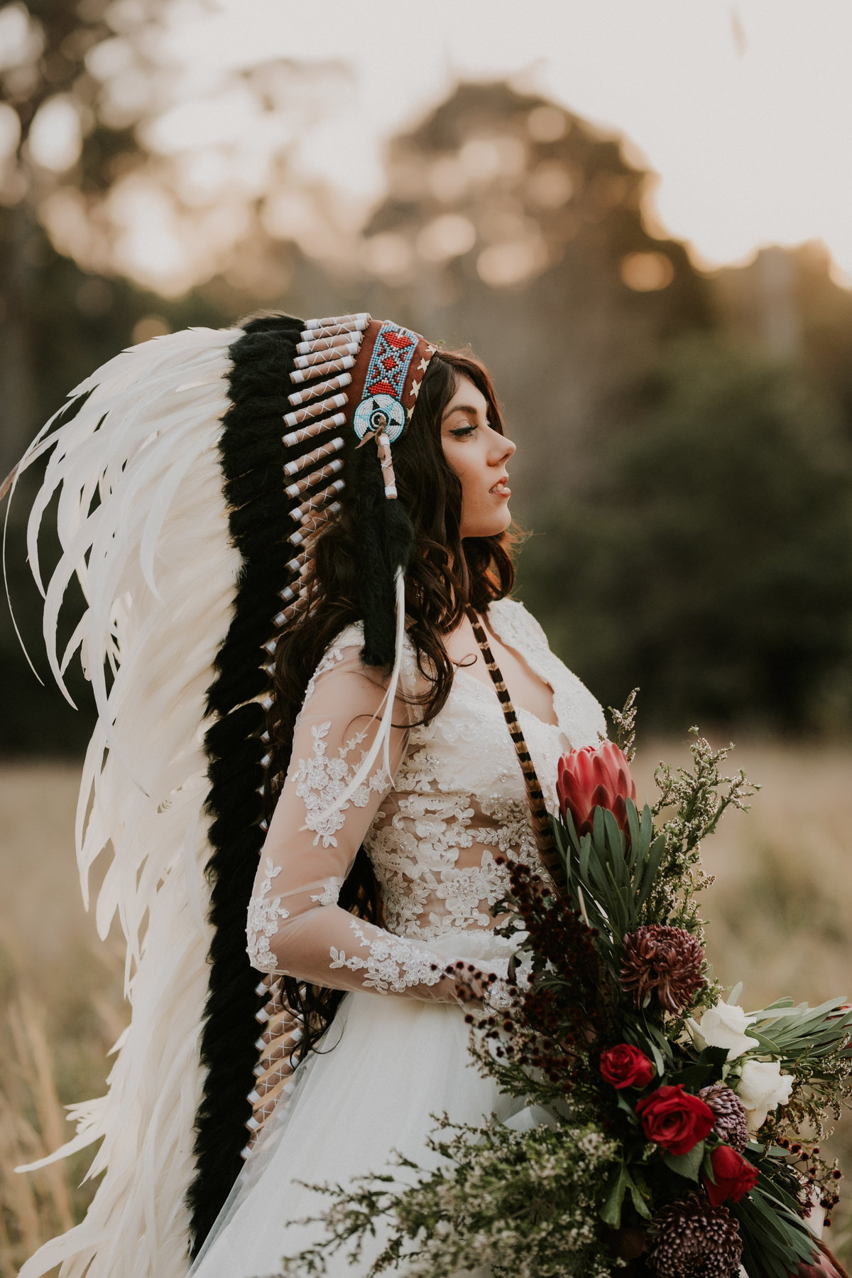 American Native Indian Bride