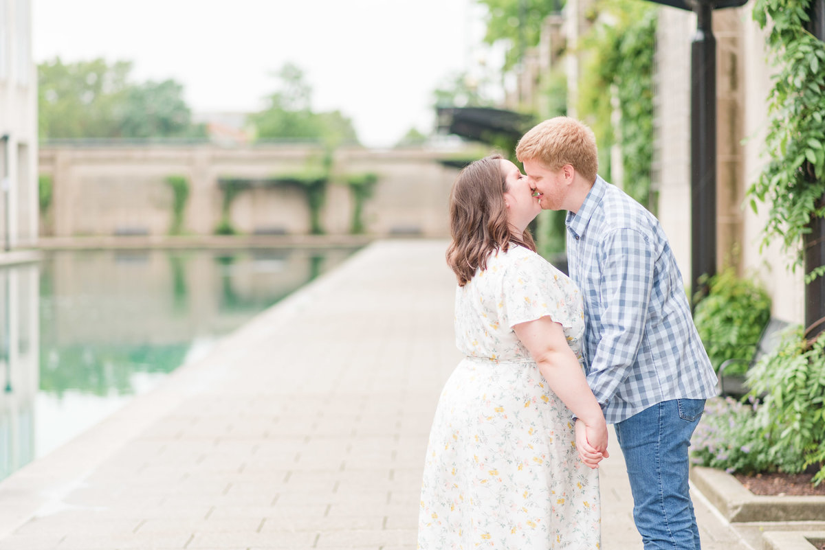 Cait Potter Creative LLC Canal Indianapolis White River State Park Spring Engagement Photos-8
