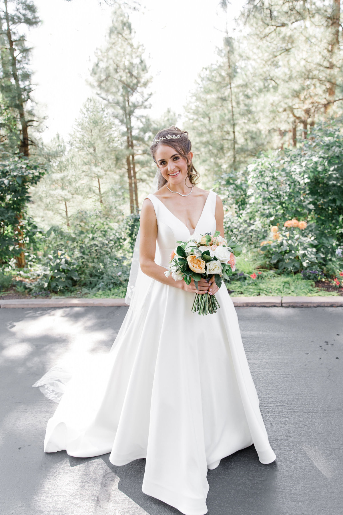 Bridal portrait at Castle Pines Golf Club