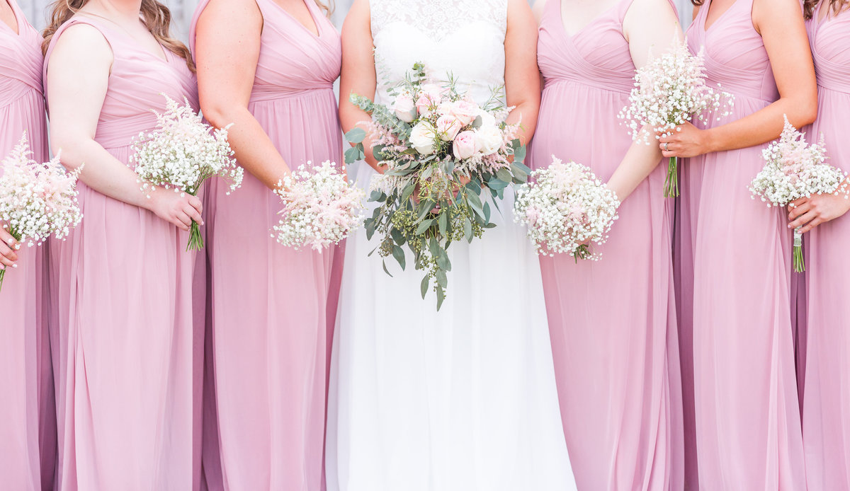 Elizabeth Hill Photography Blush and Navy North Carolina Wedding