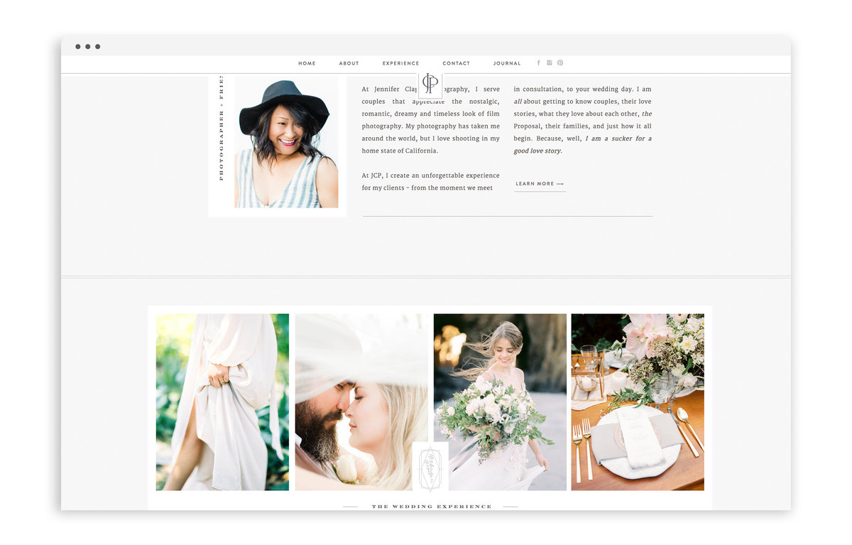 Jennifer Clapp Photography - Brand and Custom Showit Web Design by With Grace and Gold - Photo - 2