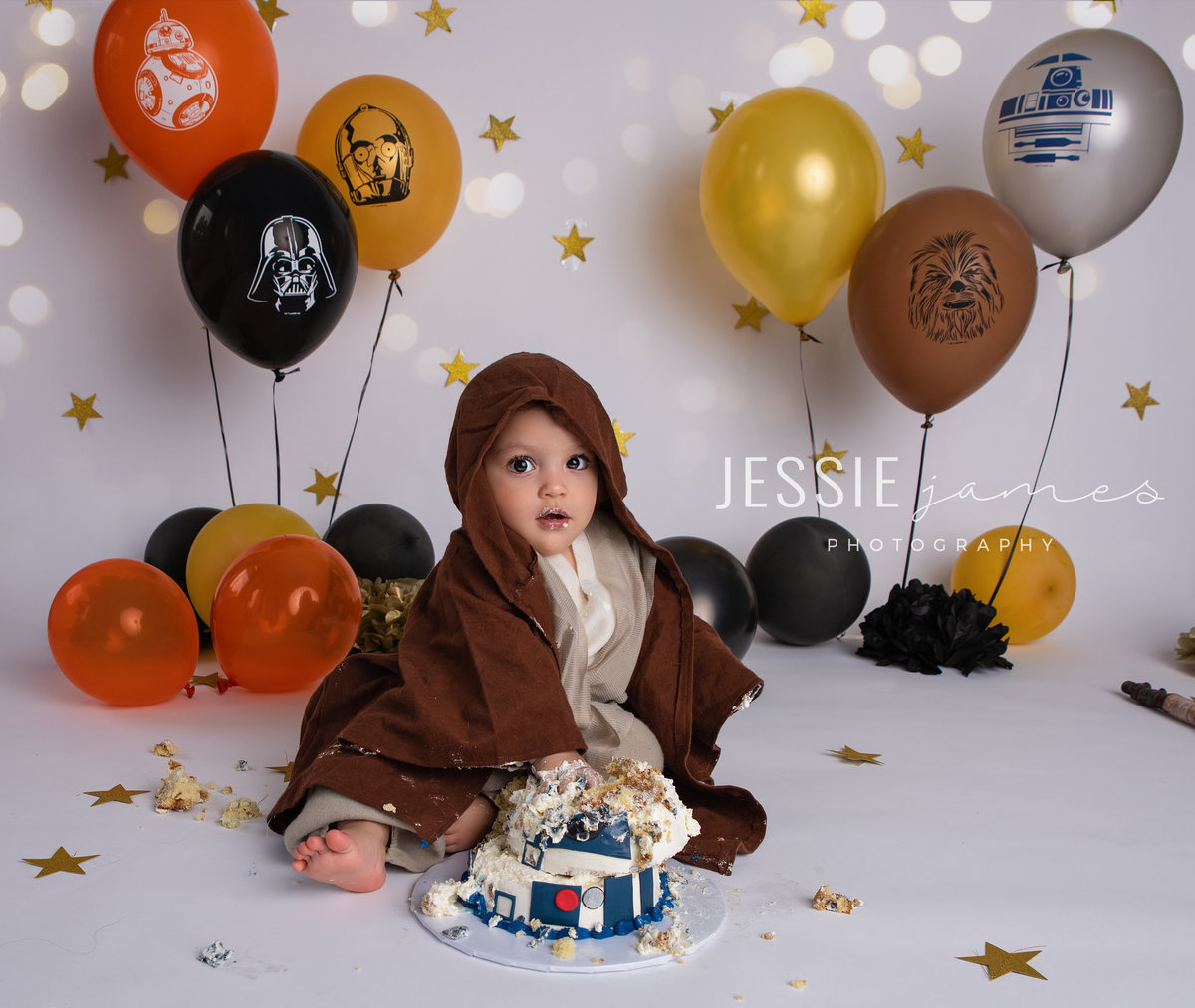star wars themed cake smash