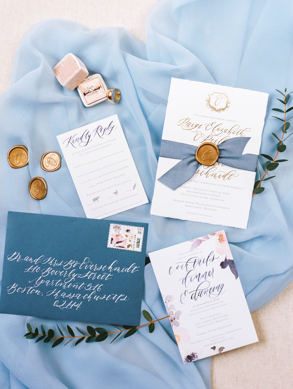 Dusty Blue Garden Wedding at The Coronado