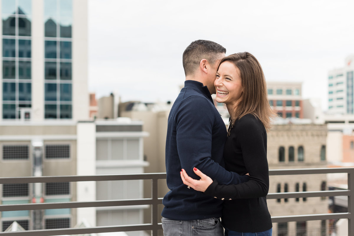 A Winter Downtown Boise Rooftop Engagement Shoot 001