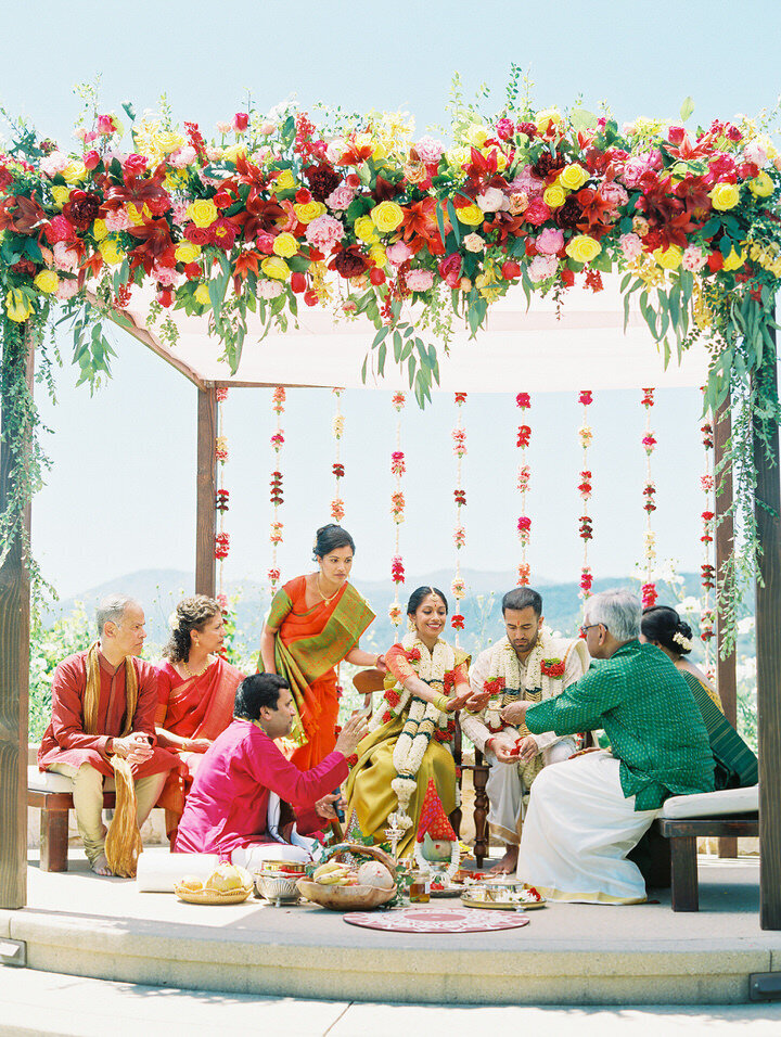floral mandap indian wedding