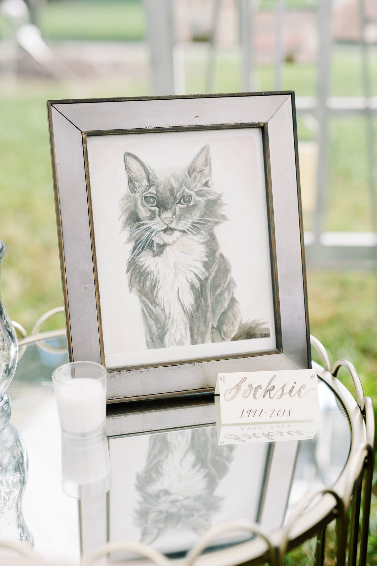 Frame Sketch of Pet Boone Hall Wedding