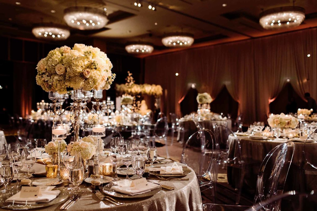 Beautiful white ballroom wedding at Four Seasons Seattle.