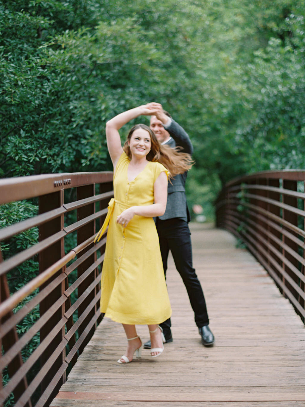 Aubrey & Joey Sedona West Fork Trail Fall Fine Art Engagement Session Ball Photo Co-10