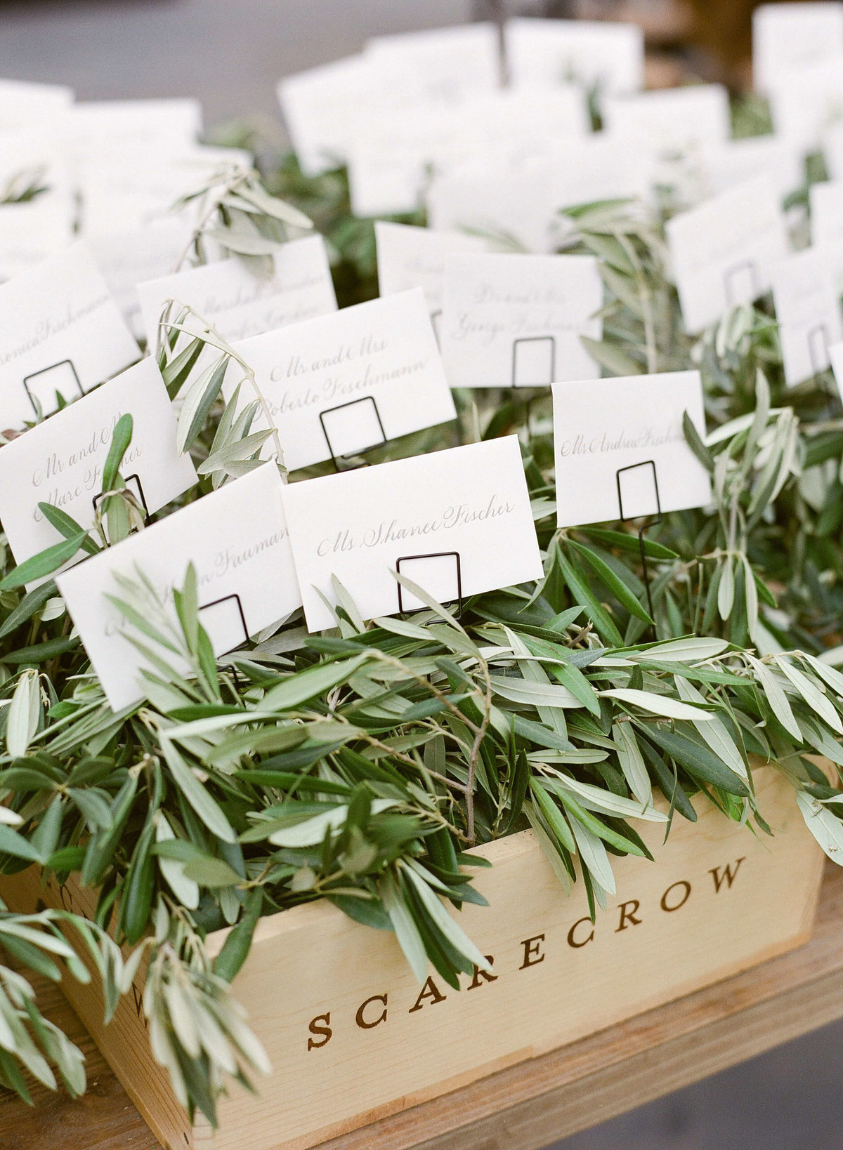 79-KTMerry-weddings-escort-cards-olive-leaves-Napa-Valley