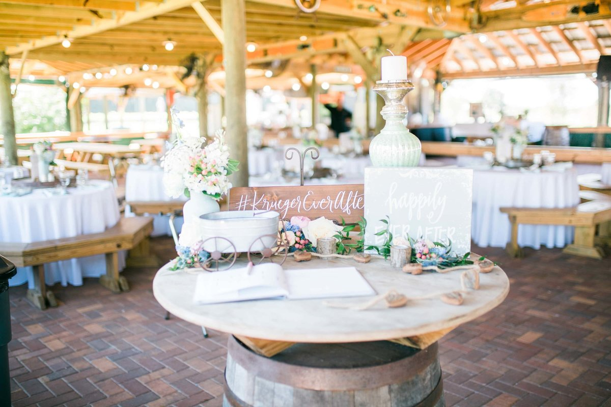 wedding wood hashtag sign